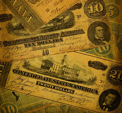 U.S. Notes antique currency in Azusa, California